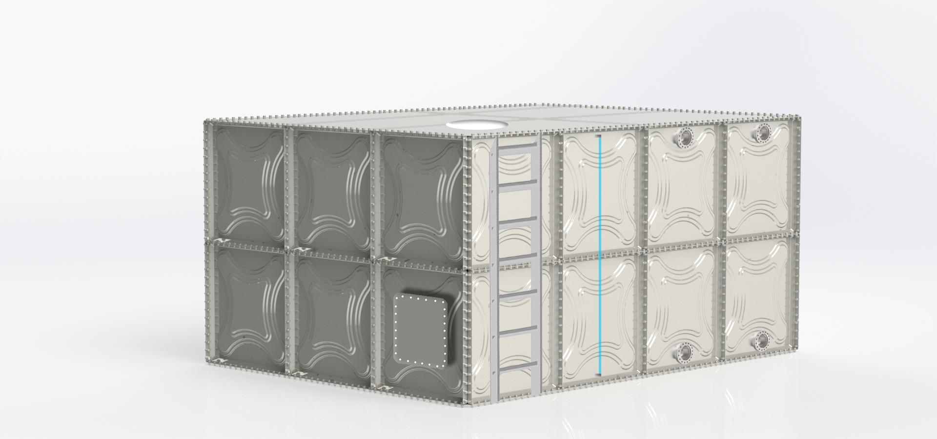 Modüler Pre-Coat Kaplamalı Çelik Su Deposu Image